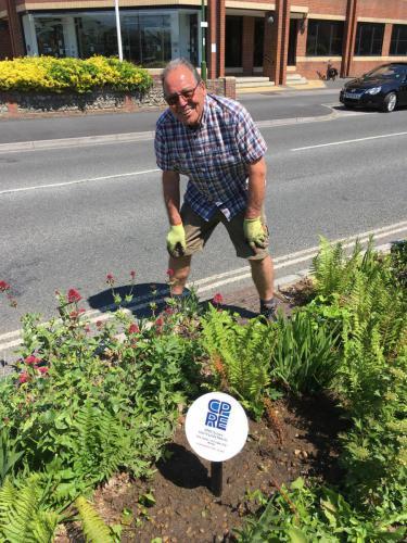 Installing Plaque in Rain Garden in Littlehampton