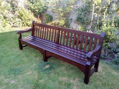 Refurbished bench for Littlehampton Library