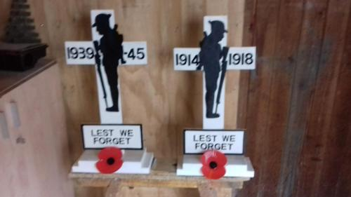 Remembrance day soldier silhouettes for St Marys Church Littlehampton